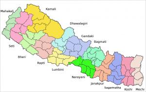 landkaart nepal